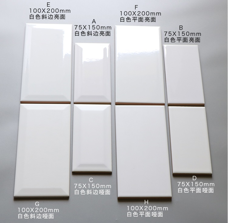 Foshan glazed subway tile ceramic for the kitchen wall,3''x6''