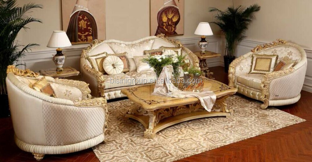 Royal Italian Style Handmade Wood Carving Sofa Set, Classical Luxury Italian  Style Living Room Couches