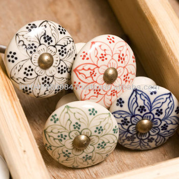 Beautiful Hand Painted Ceramic Door And Cabinet Knobs - Buy Hand ...