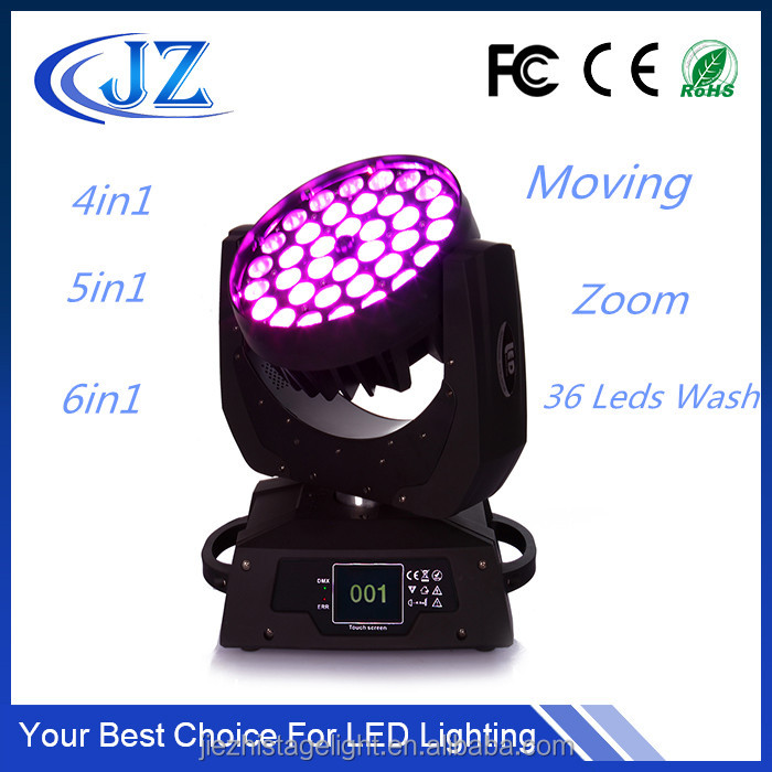 Pro 36pcs 15w 5in1 36x15w Rgbw 36x15 Zoom Wash Led Moving Head Light 50% OFF Commercial Lighting
