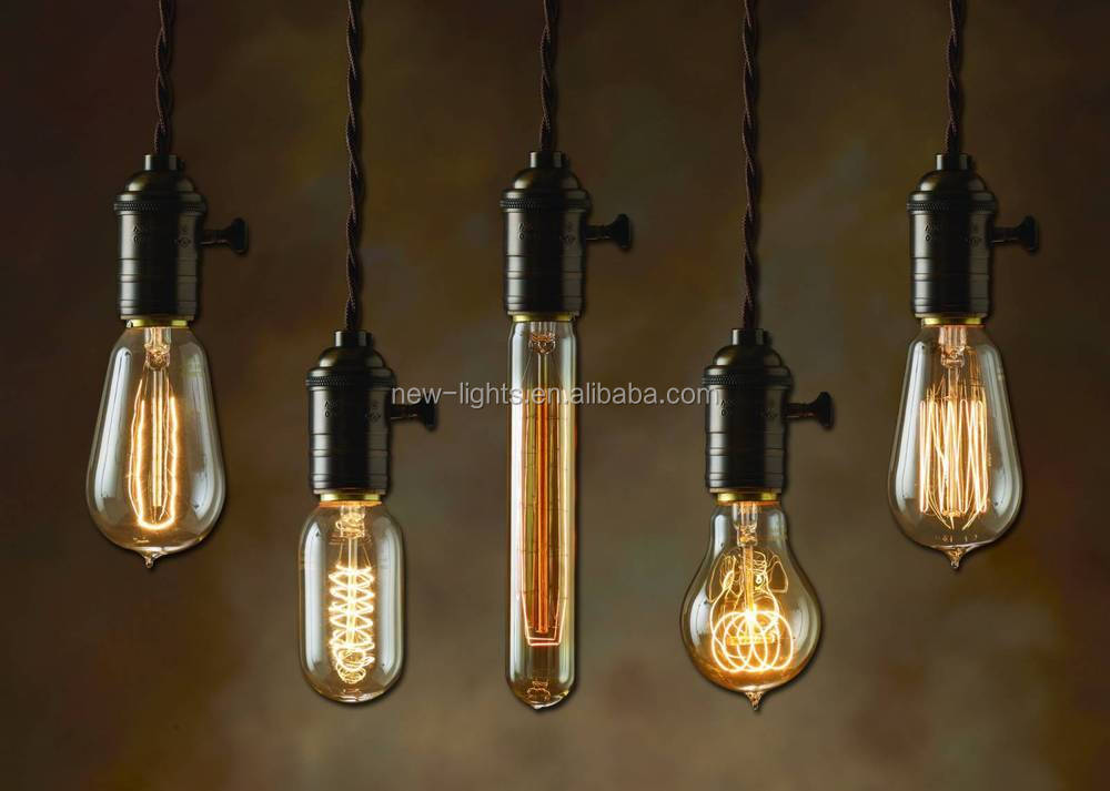 New Products Hemp Rope Vintage Pendant Light A19 Edison Bulb With ...