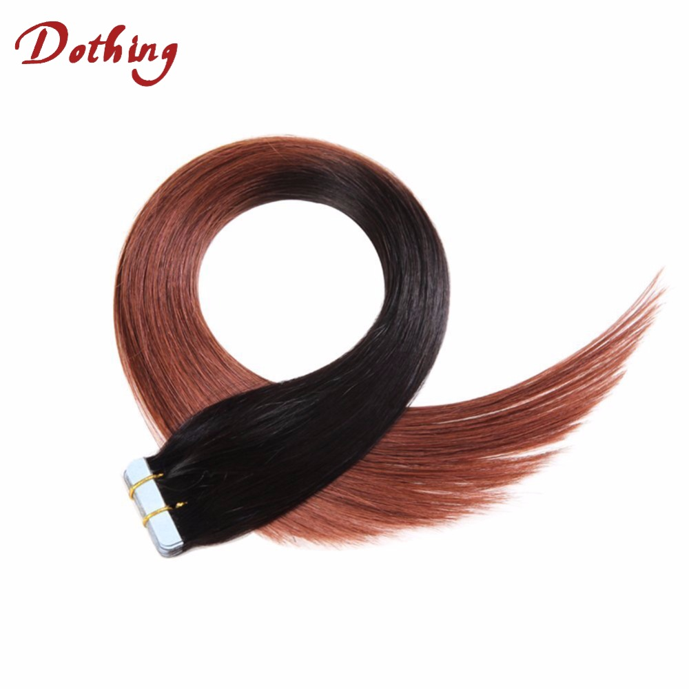 Hot Selling Products1B 33 Ombre 3 Tone Color Human Hair Brazilian Tape Hair Extension