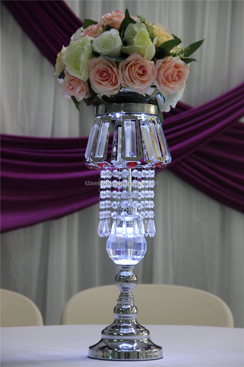 Wholesale martini glass vases centerpieces tall gold wedding vases high tall vases in crystal