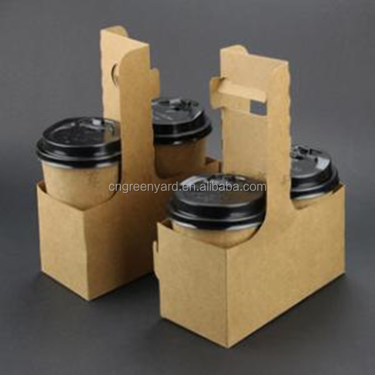 Superior Factory Price Top Quality Disposable Kraft Coffee Cup Tray
