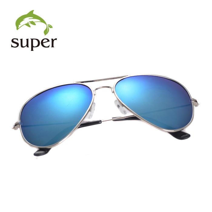 New Top Quality Men/Women Metal Aviator Sunglasses Driving Mirror Aviator Sunglasses