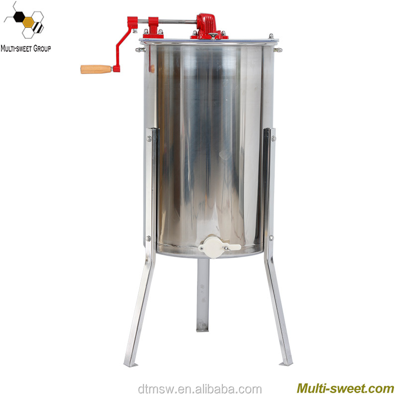 Stainless steel 3 frame manual lebah madu extractor