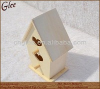 plywood handmade natural small bird house bird cage
