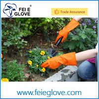 Winter Water Stop Fleece Warmer Floral Flower Latex Rubber Gloves Dishwashing Gloves Kitchen Gloves