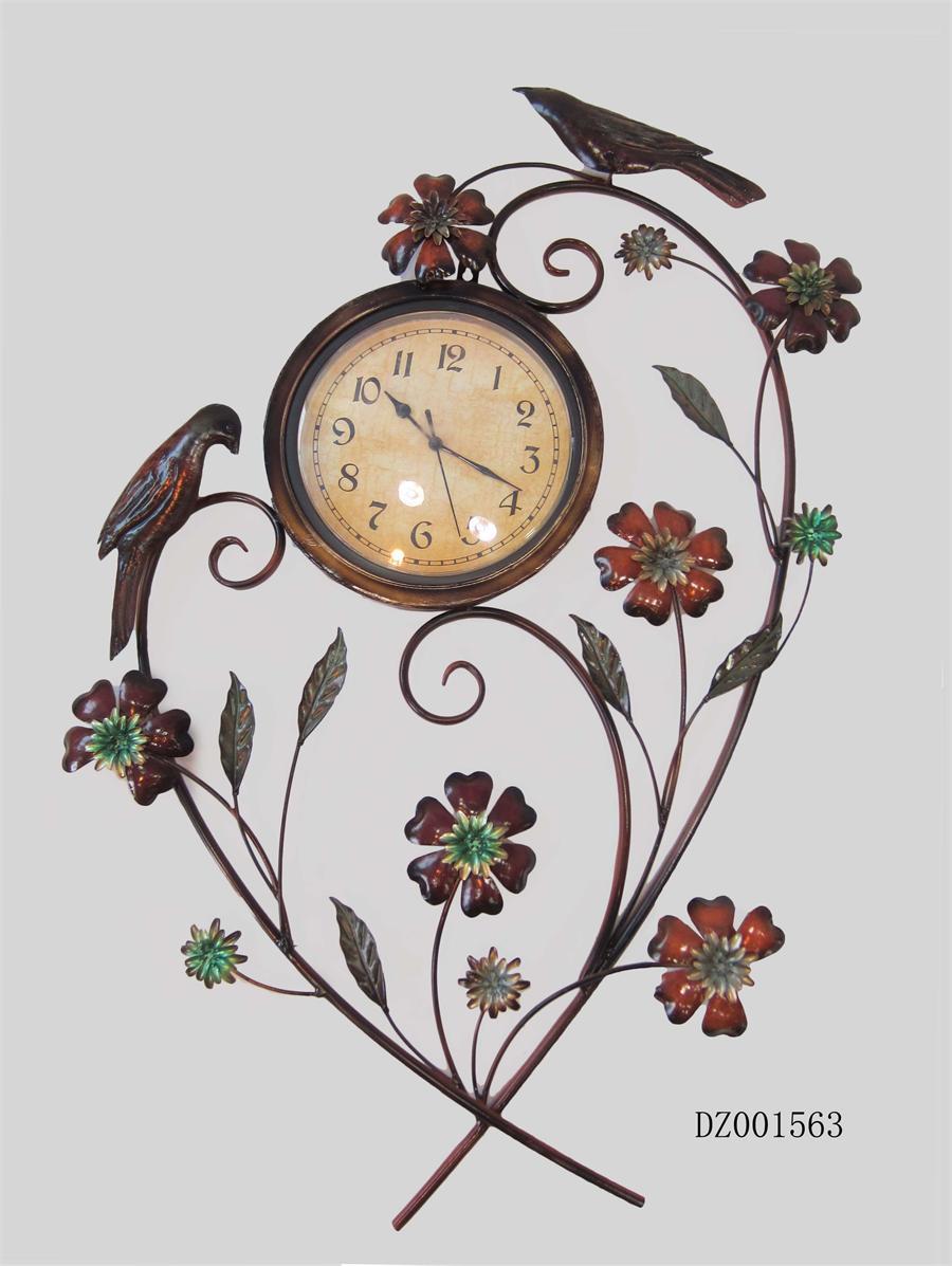 Decorative Clocks With Flowers Reversadermcreamcom