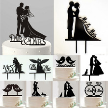 Mr&Mrs Bride & Groom Wedding Cake Topper