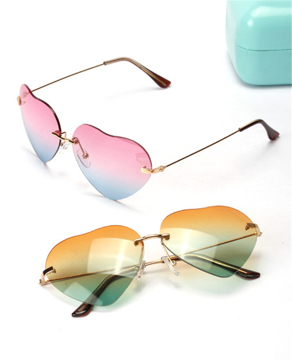 Hot Sale 2014 Cheap Classic Heart Shaped Sunglasses For Wholesales MOQ 1PCS Only