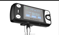 LED screen display portable car fm transmitter car charger multifuntion car stereo mp3 player