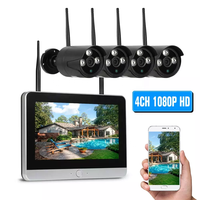 Full HD 1080p Security wifi wireless ip Camera kit with full set 4 x 1080p IP Outdoor Surveillance Camera