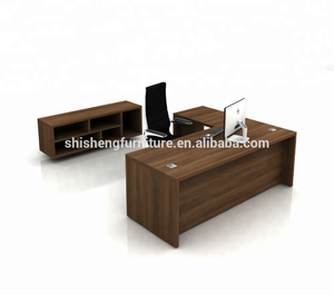 Office furniture bureau CEO table L shape manager desk with cabinet