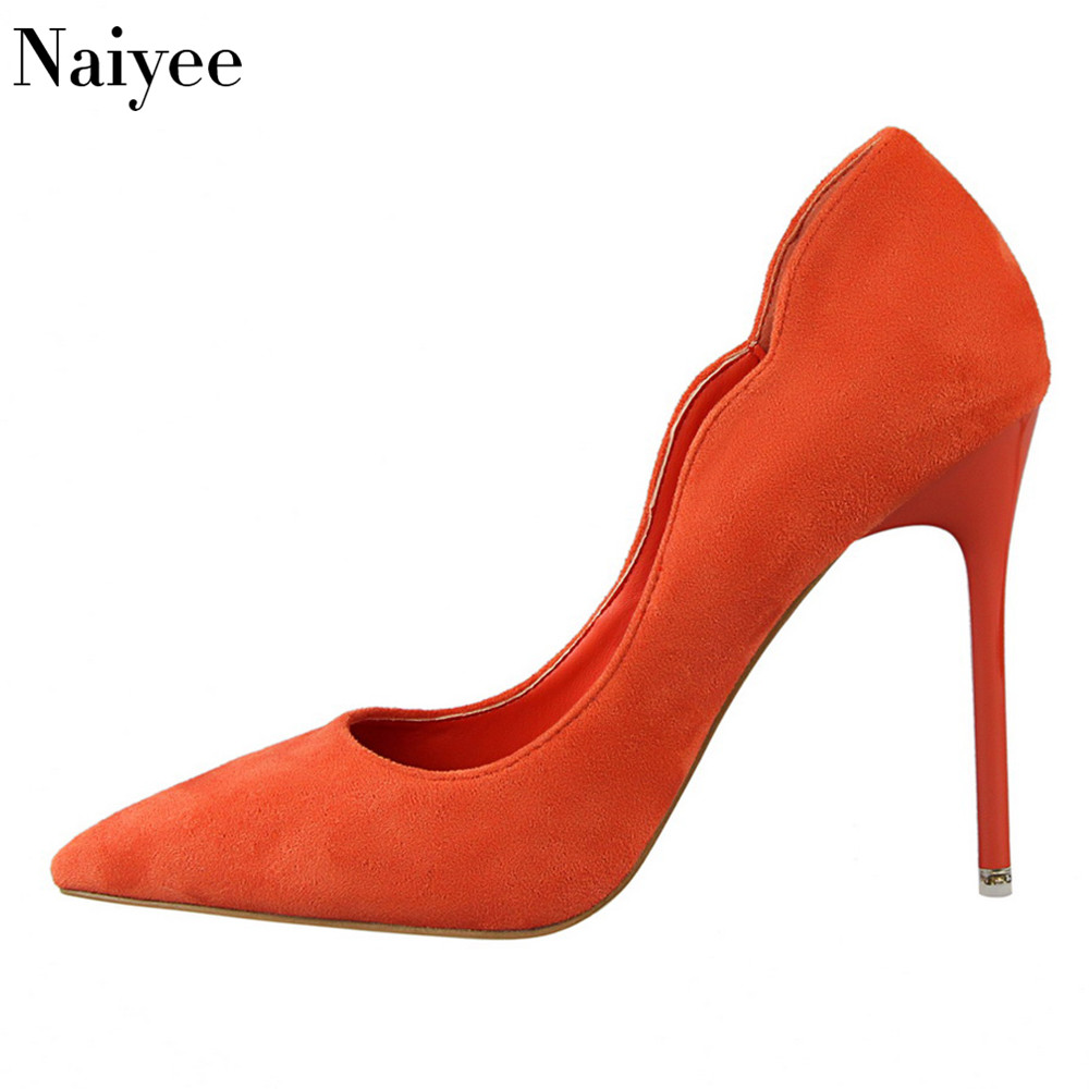 2018 Wholesale New design simple sexy women wedding dress shoes pointed-toe high heel pumps