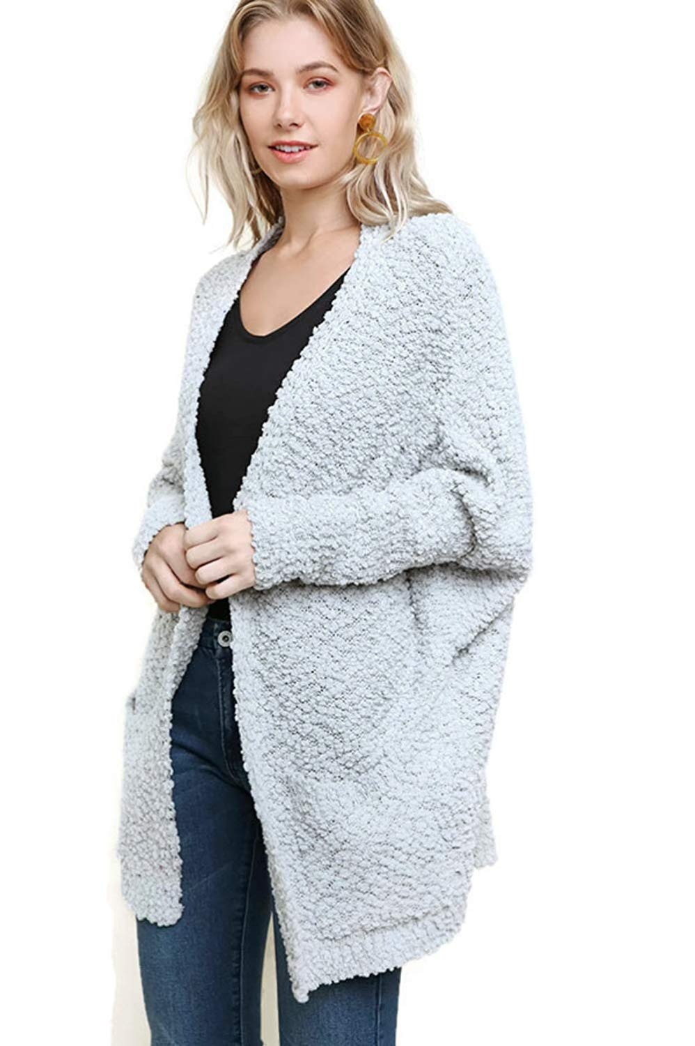 Get Quotations · Umgee Open Front Oversized Cardigan Sweater with Pockets dd38f87c2