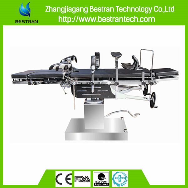 China BT-RA019 hospital univesal manual surgical operating table, medical operation bed for sale