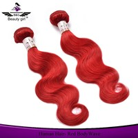 Tangle free no lice colored hair products body wave red hair weave color