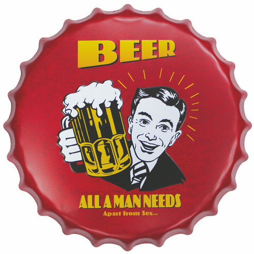 Beer custom printing decorative metal wall embossed tin sign plate <strong>arts</strong> for home