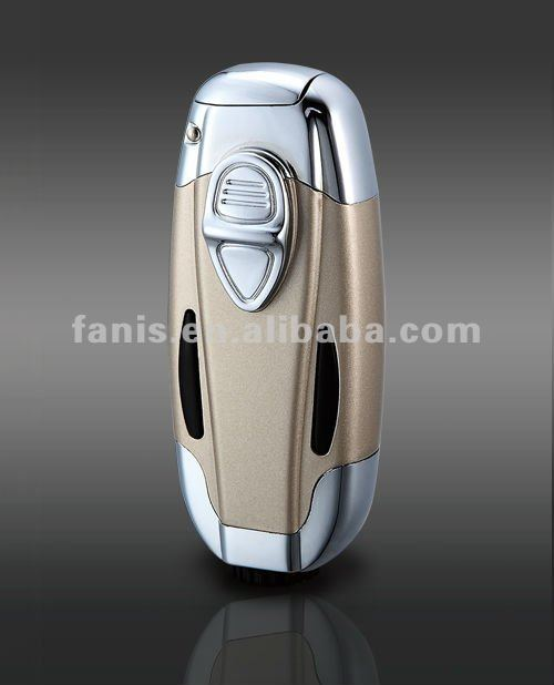 Luxury gifts gentle two torch lighter high quality 2014 <strong>gas</strong> refill