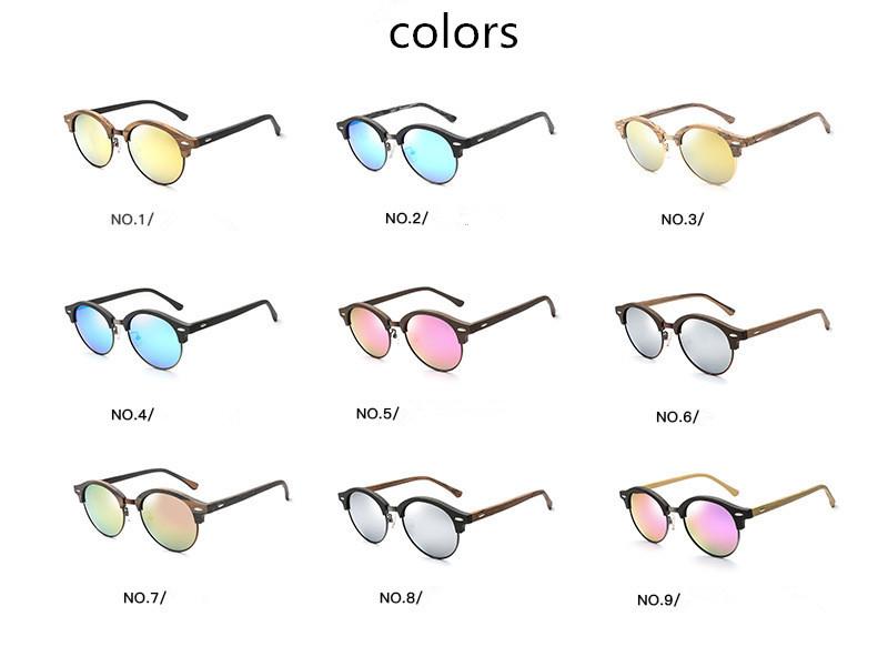 10d51337fa3 UV400 wood grain wood color fake wood half rim polar eagle acetate  sunglasses with polarized lens