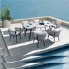 Factory Price HOT Selling Royal Hotel rope dining set patio furniture balcony dining table and chair garden outdoor furniture