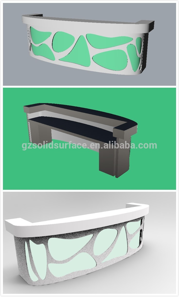 u shape led counter,hotel counter design - buy hotel counter