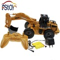 RC Excavator Alloy 6 Channel 4 Wheel Full Function Radio Control Excavator Engineer Truck Digger Loader