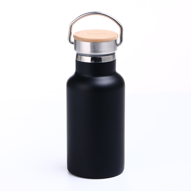 Custom stainless steel insulated thermos water <strong>bottle</strong> with bamboo lid