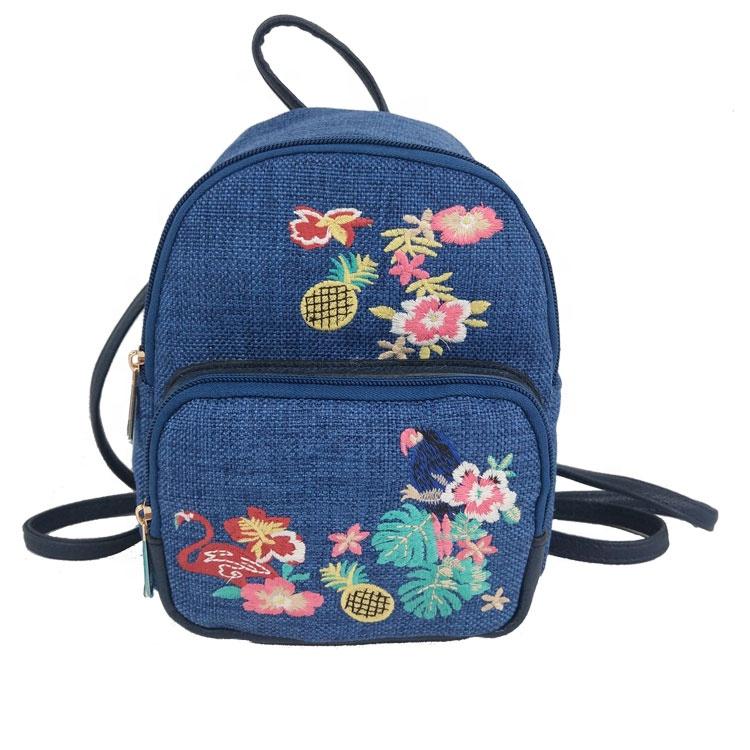 Usine Nouveau Bohème Mini Cadeau De Broderie Femmes sac à dos