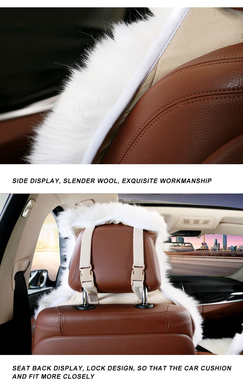 2020 NEW ARRIVAL Australian sheepskin car seat covers universal size for seat cover