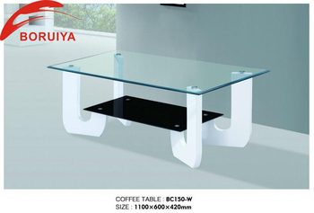 Hot Sale Wooden Teapoy Designs Glass Top Coffee Table