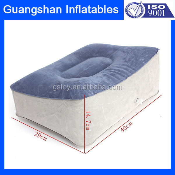 traveling inflatable foot rest pillow