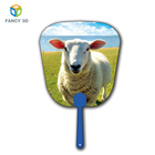 Zebulun Chinese Custom Pictures Plastic PET PP 3D Lenticular Small Craft Hand Fans