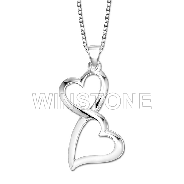 Two hearts one love double heart pendant necklace
