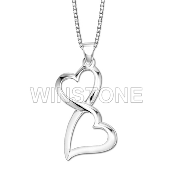 Two hearts one love double heart pendant necklace buy customized two hearts one love double heart pendant necklace aloadofball Image collections