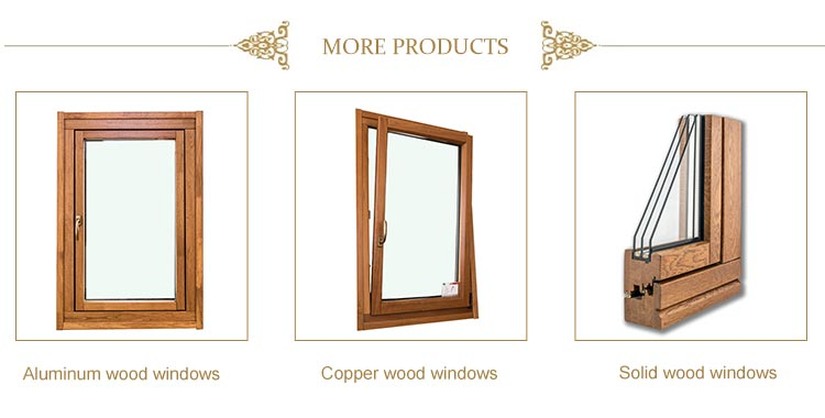 Wood double glazed best soundproof burglar proof window supplier