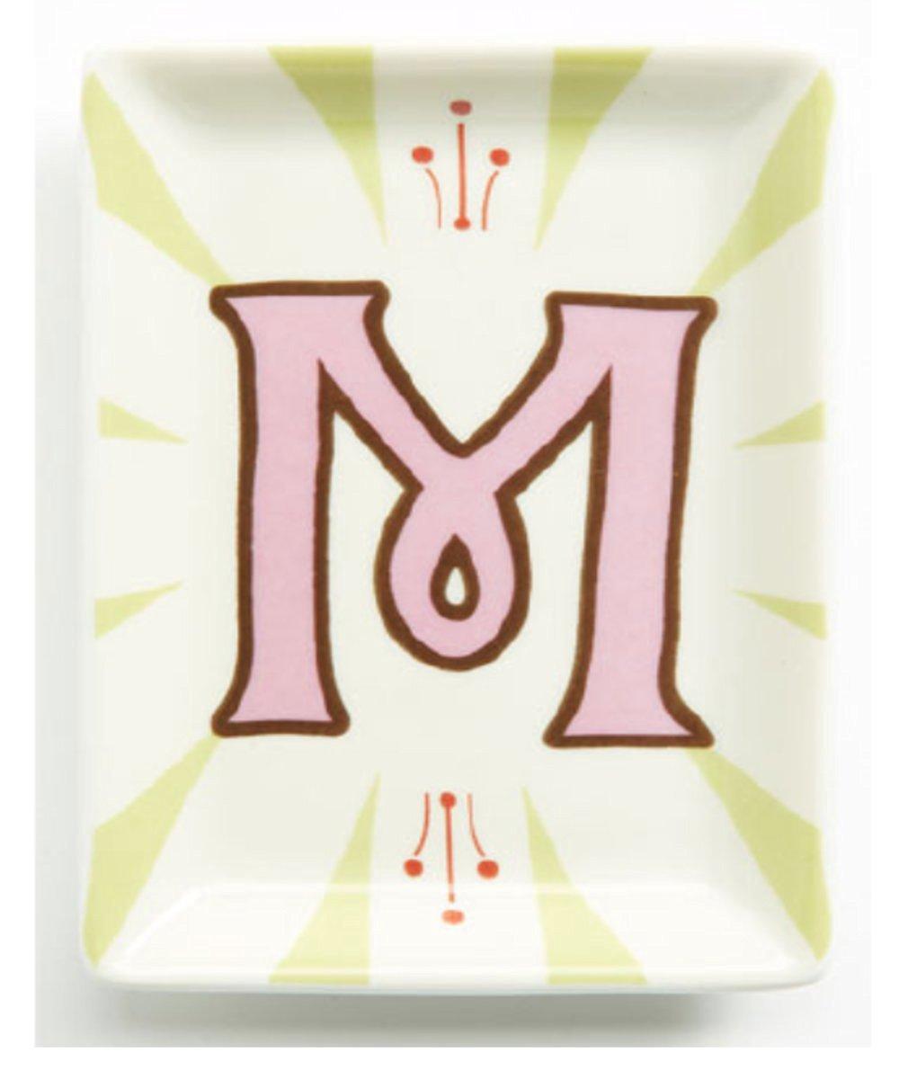 ROSANNA Alphabet Studio Trinket Tray- Letter M