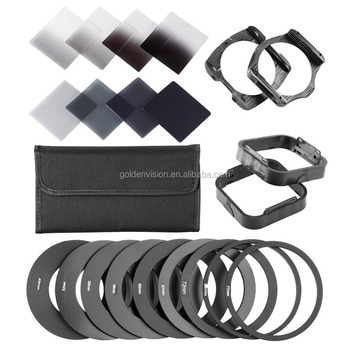 Complete ND Filter Kit for Cokin P Series: (8)ND Filters(Full ND2 ND4 ND8 ND16; Graduated G.ND2 G.ND4 G.N8 G.ND16 adapter ring