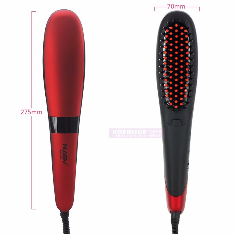 Manufacturer OEM Private Label 2 in 1 Anion LCD Electric Fast Hair Straightener Brush (4)