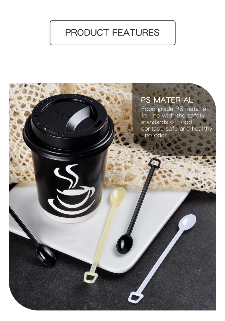 Plastic Spoon,Disposable coffee stirring spoon Plastic Flatware set