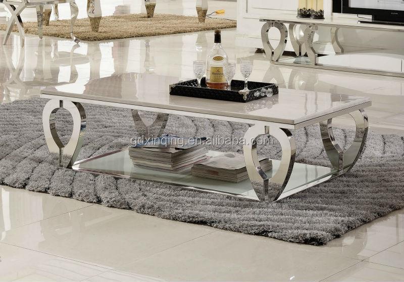 현대적인 디자인 인공 대리석 커피 테이블 스테인레스 스틸 ...