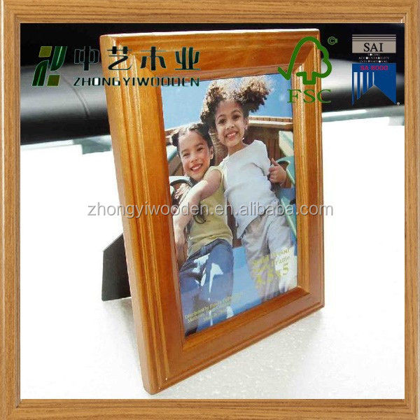 2015 year factory suppliers selling FSC&SA8000 promotioal children memory wooden photo picture frame in gifts&crafts