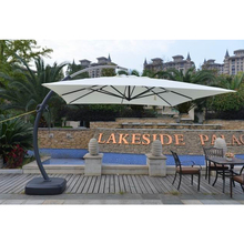 Brilliant 3 5M Garden Patio Used Deluxe Bend Umbrella With Luxury Base Gmtry Best Dining Table And Chair Ideas Images Gmtryco
