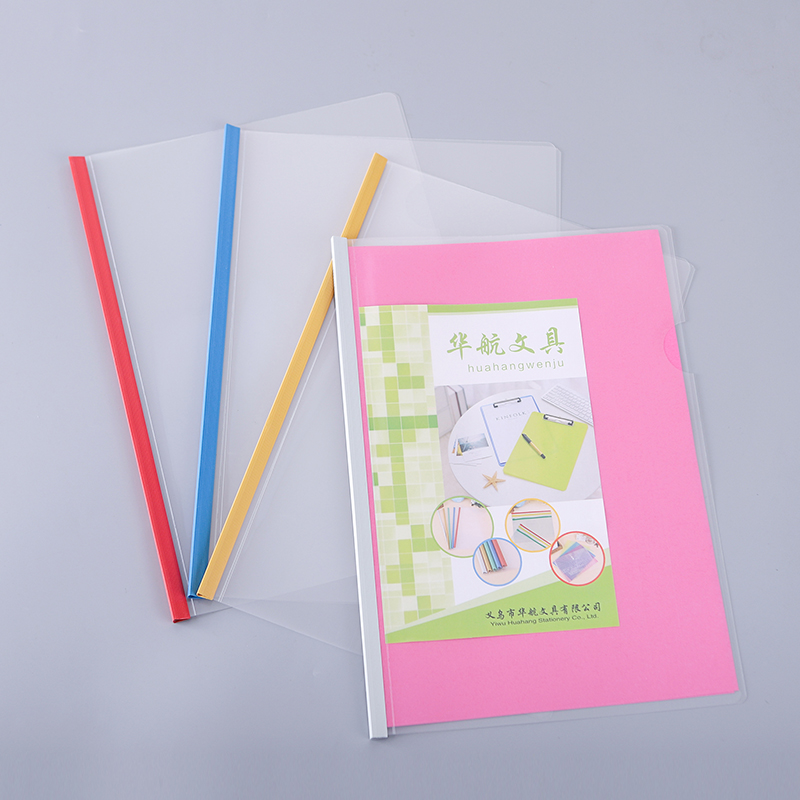 Water proof A4 pp clear report cover slide bar file cover