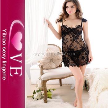 47b4b87e6a73c Wholesale Babydoll Sexy Lingerie Hot Women Sexy Underwear Sleepwear Dress  with G String Lace Bra Erotic