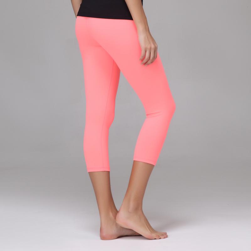 Nylon And Spandex/lycra Womens Yoga Capri Pants Bright Colors ...