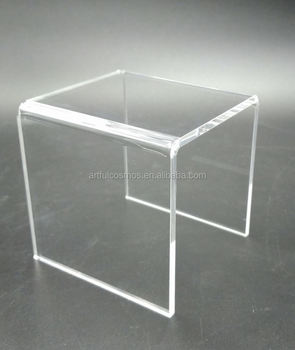 China gold supplier super quality mirrored acrylic risers
