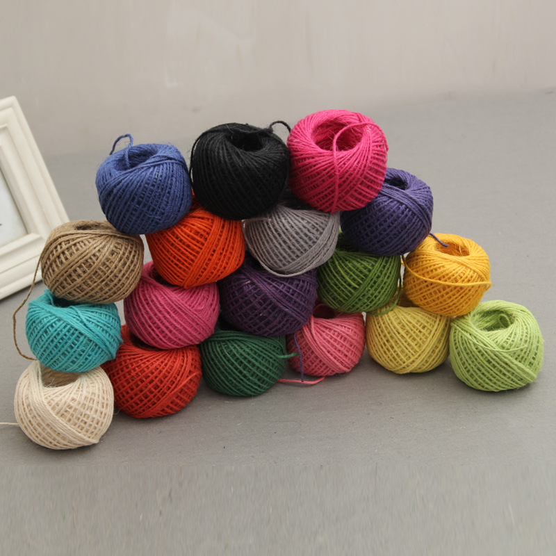 Craft Supplies Colored Twine And Burlap