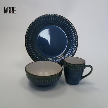 16-Piece Reactive Glaze Dinnerware SetGrace Design Crockery Tableware & 16-piece Reactive Glaze Dinnerware SetGrace Design Crockery ...